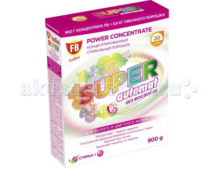Бытовая химия Feed Back Color super automat стиральный порошок для белого и цветного белья 20 стирок 900 г бытовая химия luxus усилитель стирального порошка для цветного белья professional супер сила 500 г