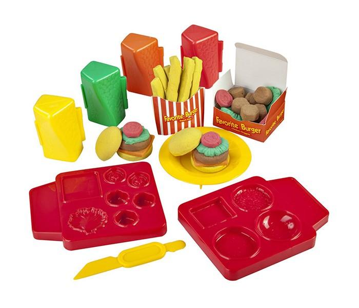 Всё для лепки Skwooshi Набор для творчества Масса для лепки Бургер всё для лепки lori пластилин классика 16 цветов