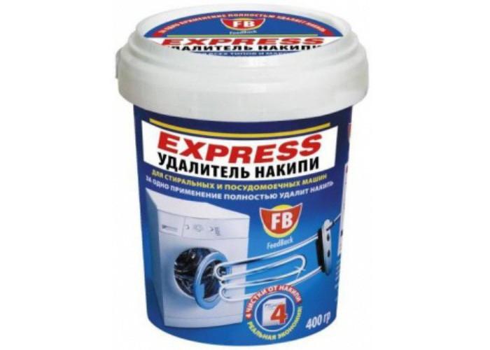 Бытовая химия Feed Back Express удалитель накипи для стиральных и посудомоечных машин 400 г средство для защиты и чистки стеклокерамики feed back 500 мл