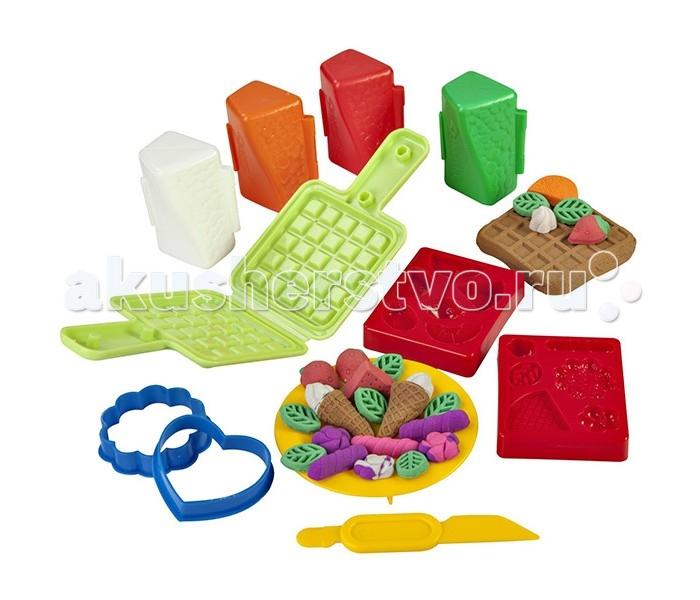 Фото - Масса для лепки Skwooshi Набор для творчества Масса для лепки Вафли масса для лепки mallo junior набор сафари
