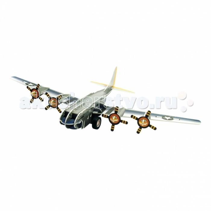 Пазлы IQ 3D Пазл Бомбардировщик B-17 инерционный 38 элементов пазлы iq 3d пазл пизанская башня