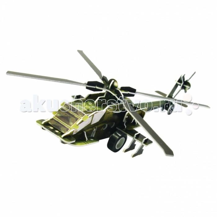 Пазлы IQ Puzzle 3D Пазл Вертолет AH-64 инерционный 36 элементов 3d apple brain teaser crystal puzzle iq toy color asserted 2 l736