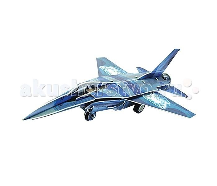 Пазлы IQ 3D Пазл Истребитель F-16 инерционный 42 элемента iq puzzle пазл 3d истребитель f 16 42 детали