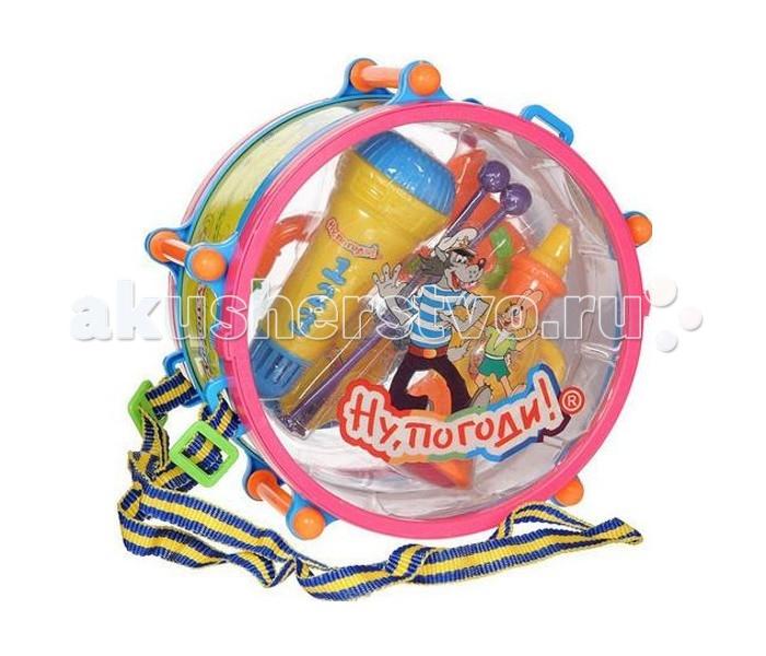 Музыкальные игрушки 1 Toy Набор музыкальных инструментов Ну, погоди! развивающая игрушка 1toy ну погоди 1toy ну погоди музыкальные инструменты в барабане