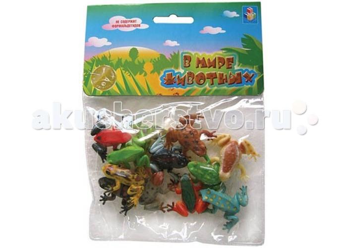 Игровые фигурки 1 Toy Набор фигурок В мире животных Лягушки 12 шт. живые лягушки в оквариум