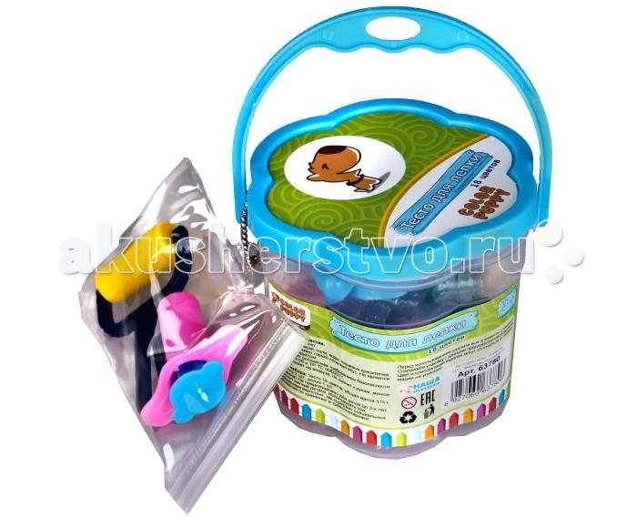 Всё для лепки Color Puppy Тесто для лепки 18 цветов 315 г формочки инструменты всё для лепки lori тесто для лепки пластишка 7 цветов по 30 г