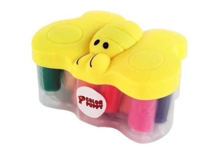 Всё для лепки Color Puppy Тесто для лепки 14 цветов 210 г формочки шприц uchida vs 20