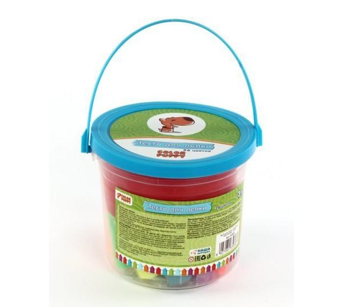 Всё для лепки Color Puppy Тесто для лепки 26 цветов 442 г формы ролик color puppy тесто для лепки 26 цветов 442г формы ролик