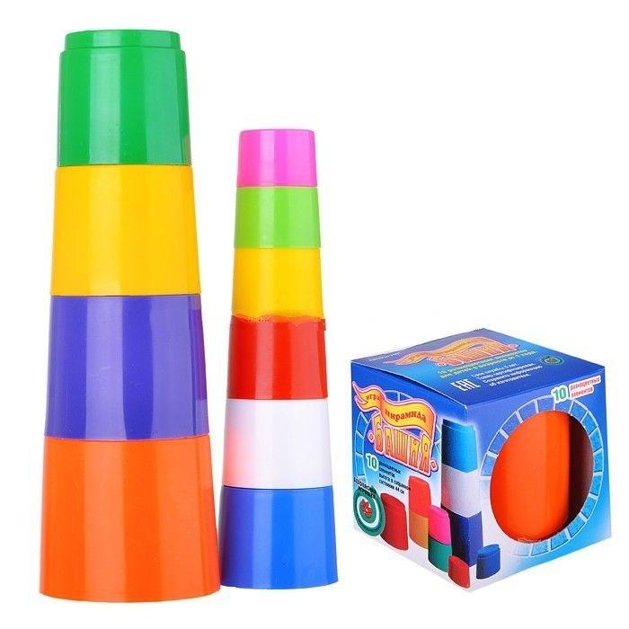 Развивающие игрушки Спектр Игра Пирамида Башня 10 эл. развивающие игрушки стеллар пирамида занимательная большая
