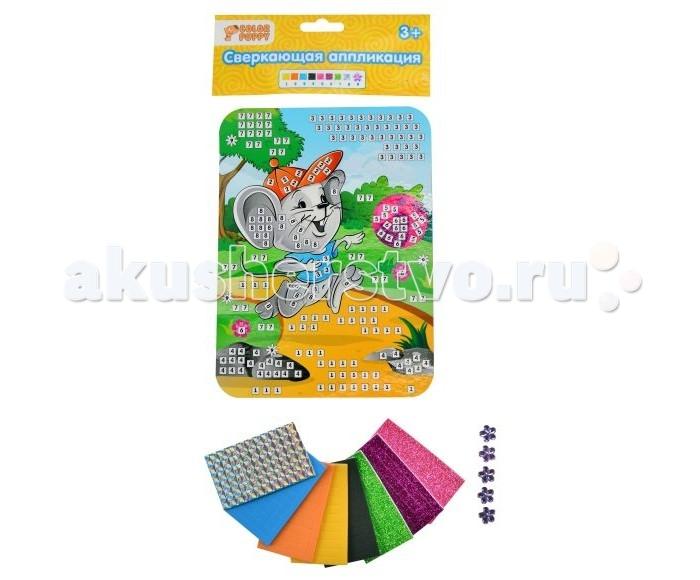 Наборы для творчества Color Puppy Набор для творчества Сверкающая аппликация Мышонок мозаика color puppy набор для творчества аппликация кошечка модница 635158