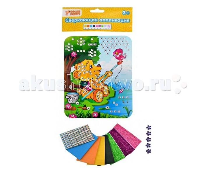 Наборы для творчества Color Puppy Набор для творчества Сверкающая аппликация Медвежонок мозаика color puppy набор для творчества аппликация кошечка модница 635158
