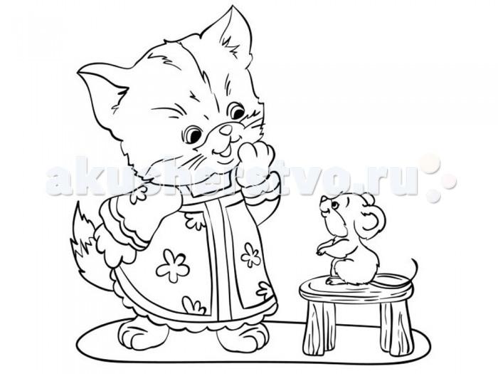 Раскраски Color Puppy Роспись по холсту Котенок 15 х 15 см набор для вышивания крестом luca s дневной котенок 5 5 х 10 см