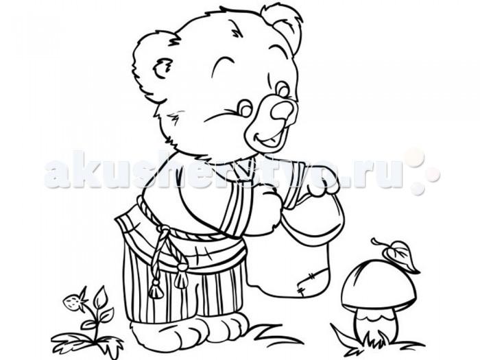Раскраски Color Puppy Роспись по холсту Медвежонок 15 х 15 см