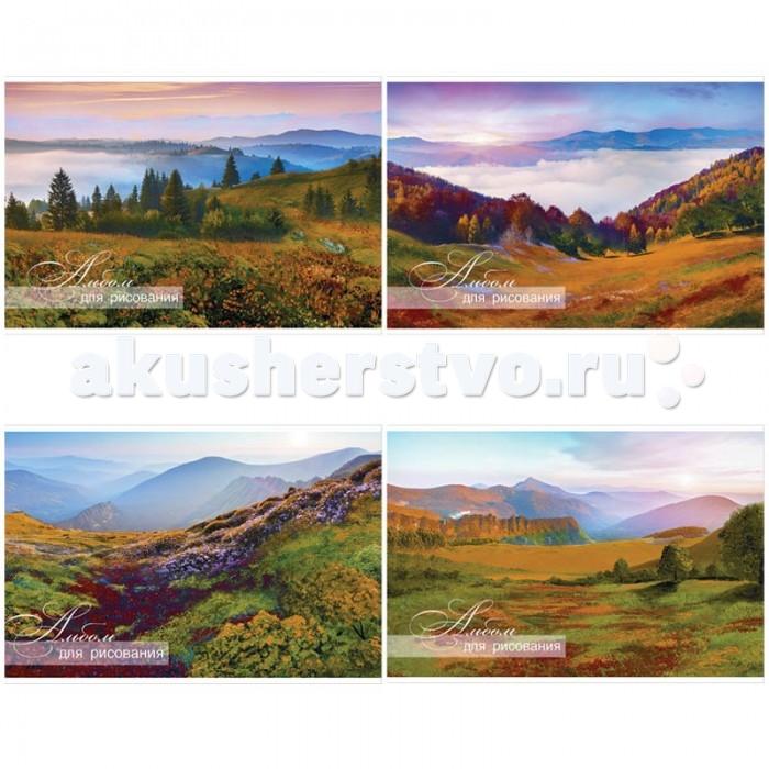 Принадлежности для рисования БиДжи Альбом для рисования Горный пейзаж на гребне А4 (40 листов) альбом для рисования чудесные иллюзии 40 листов а4 склейка а401604