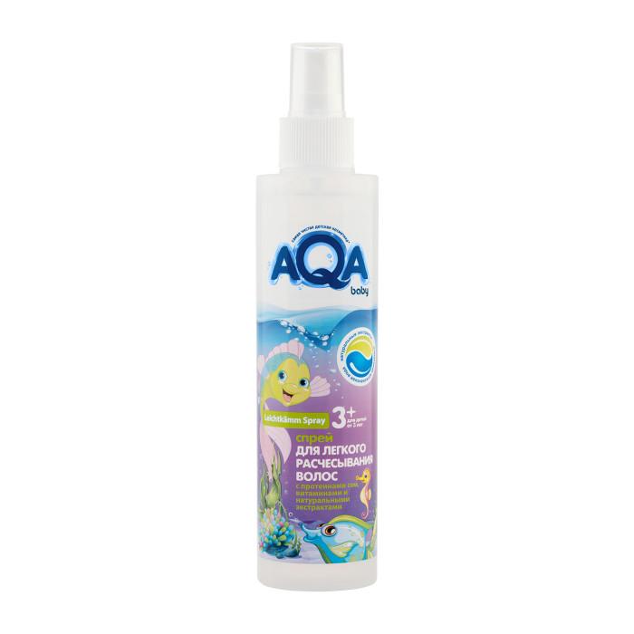 Детская косметика AQA baby Спрей для легкого расчесывания волос 200 мл бальзам для волос aqa baby kids 210 мл
