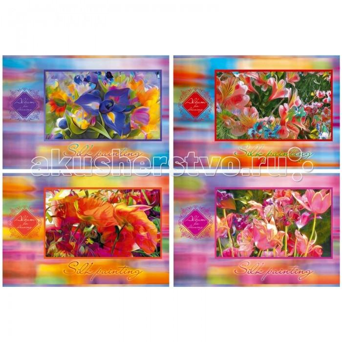 Принадлежности для рисования БиДжи Альбом для рисования Шелковые картины на скрепке А4 (40 листов) альбом для рисования чудесные иллюзии 40 листов а4 склейка а401604