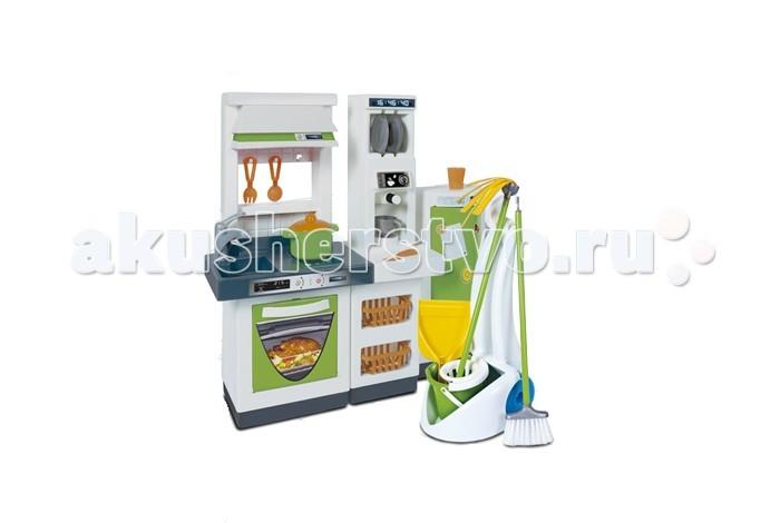 Palau Модульная кухня 64 см 3 модуля и набор ХозяюшкиМодульная кухня 64 см 3 модуля и набор ХозяюшкиМодульная кухня 64см (3 модуля) + набор Хозяюшки  В этом наборе есть все необходимое, чтобы мама научила малышку хозяйничать на кухне, а также поддерживать на ней порядок и чистоту. Все игровые аксессуары выполнены из прочного пластика, поэтому очень долговечны, а их яркие цвета радуют глаз ребенка.  Аксессуары из него выполнены очень реалистично: духовку можно открывать, на варочную поверхность размещать кастрюлю, в кофеварке имитировать приготовление кофе, а в раковину можно сложить всю грязную посуду.  Также в комплекте предусмотрены аксессуары для уборки на кухне, поэтому дети смогут всегда поддерживать в ней порядок.<br>