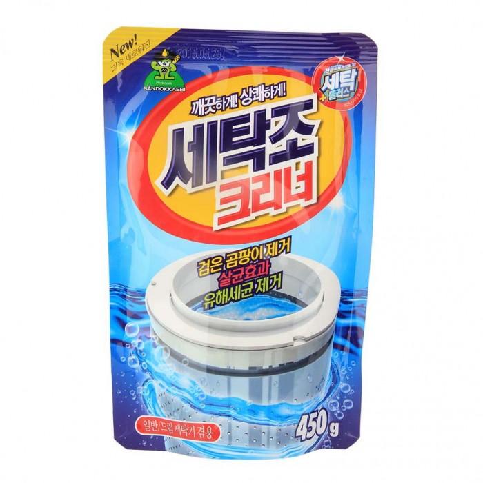 Бытовая химия Sandokkaebi Очиститель для стиральных машин мягкая упаковка 450 г бытовая химия selena антинакипин для стиральных машин 100 г 24