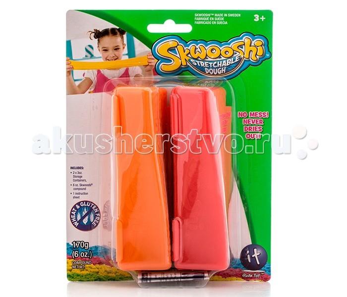 Всё для лепки Skwooshi Масса для лепки в 2 контейнерах 85 г skwooshi набор для лепки с аксессуарами бургер