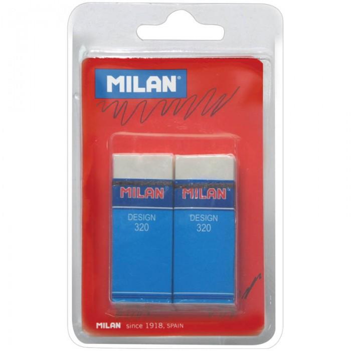 Канцелярия Milan Набор ластиков Design 320 2 шт. milan набор ластиков 124 цвет зеленый красный 3 шт