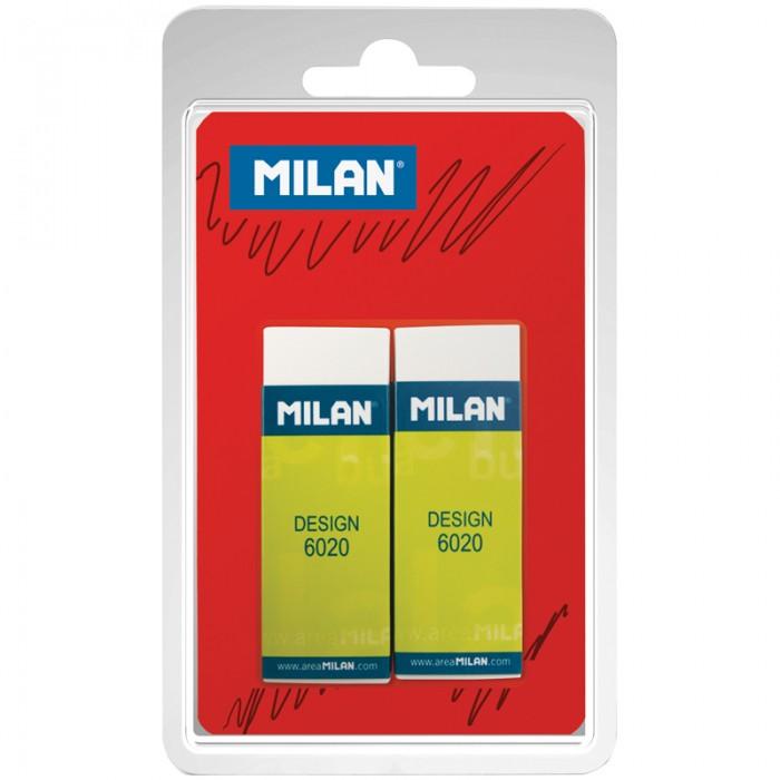 Канцелярия Milan Набор ластиков Design 6020 2 шт. milan набор ластиков 124 цвет зеленый красный 3 шт