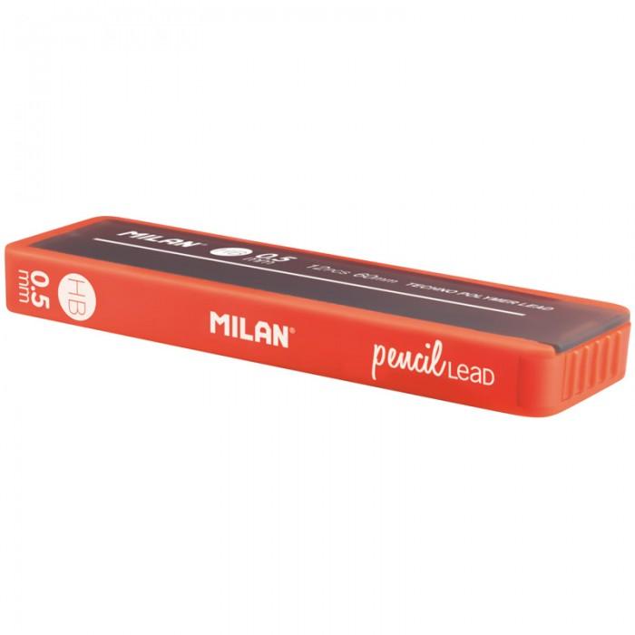 Канцелярия Milan Грифели для механических карандашей 0.5 мм HB софттач