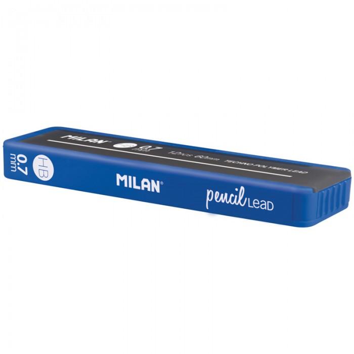 Канцелярия Milan Грифели для механических карандашей 0.7 мм HB софттач грифели для механических карандашей pentel ain stein 0 5мм 12шт c275s нb