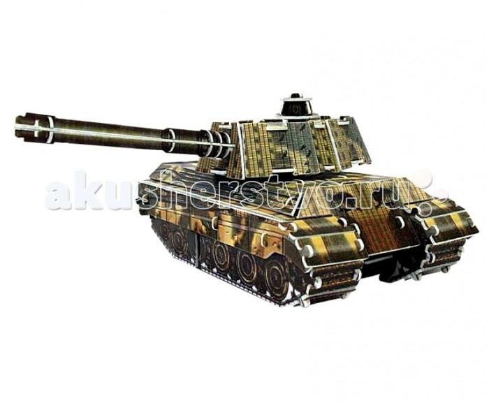 Пазлы IQ 3D Пазл Танк King Tiger инерционный 76 элементов пазлы iq 3d пазл спасская башня кремля