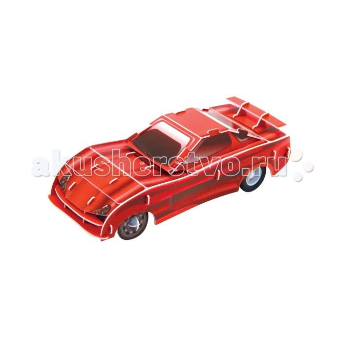 Пазлы IQ 3D Пазл Красный гоночный автомобиль инерционный 29 элементов пазлы iq 3d пазл пизанская башня
