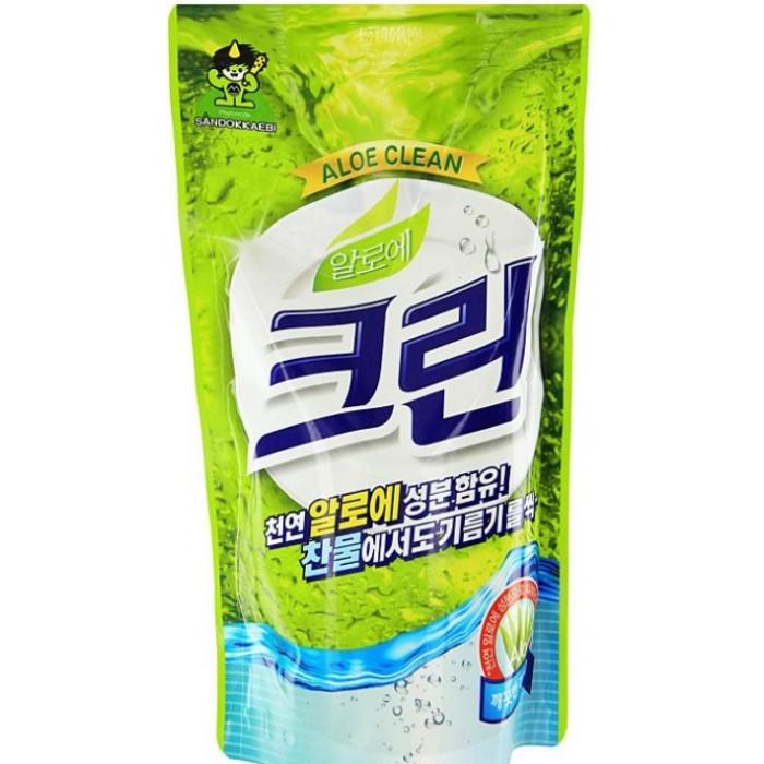 Бытовая химия Sandokkaebi Aloe Clean Средство для мытья посуды запасной блок 800 г средства для мытья продуктов mako clean средство для мытья продуктов