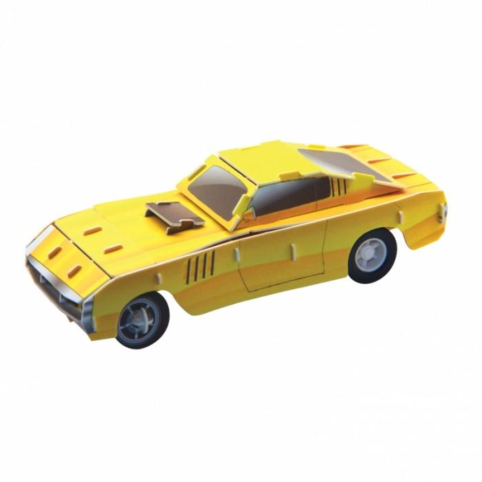 Пазлы IQ 3D Пазл Желтый гоночный автомобиль инерционный 29 элементов полесье гоночный автомобиль торнадо цвет желтый