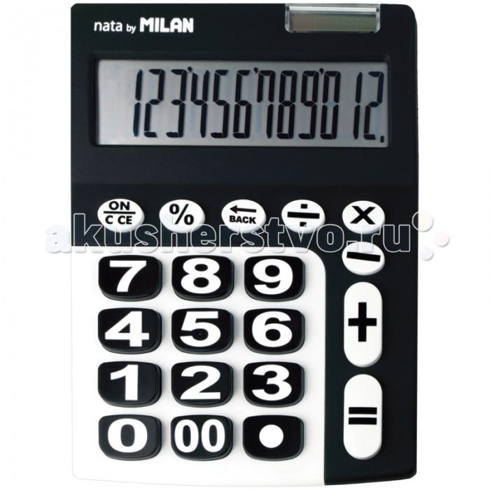 Канцелярия Milan Калькулятор настольный 12 разрядов двойное питание 225х140х30 мм канцелярия milan калькулятор настольный 10 разрядов двойное питание 145x106x21 мм mix