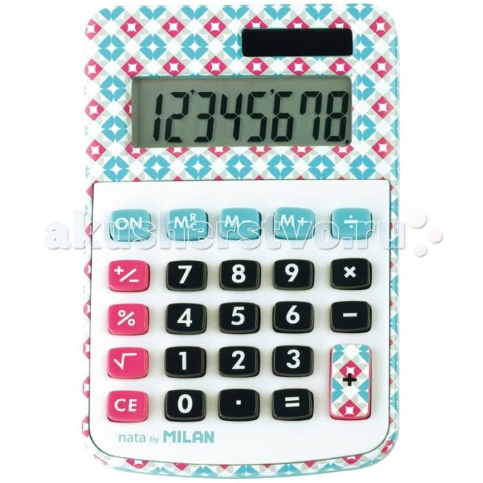 Канцелярия Milan Калькулятор настольный 8 разрядов, двойное питание 118х76х21 мм калькулятор настольный assistant ac 2132 8 разрядный ac 2132
