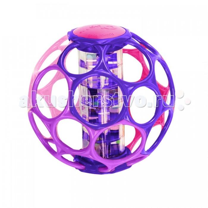 Погремушка Oball Мячик розовыйМячик розовыйOball Мячик с погремушкой розовый 81552  С мячиком Oball легко играть, а сломать его практически невозможно!  Хватать игрушку очень легко даже самым маленьким детям, так как в мячике проделаны 30 отверстий для пальцев. Внутри мячика находится погремушка, которая издает нежные ненавязчивые звуки во время игры, похожие больше на шелест дождя, чем на грохот пластиковых деталей.  Детали внутри погремушки окрашены в различные цвета, что поможет ребенку развить восприятие цветов.  Игрушка также предназначена для развития тактильных ощущений, ну и, конечно, для того, чтобы приносить массу веселья!<br>