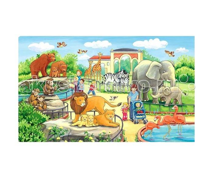Пазлы Ravensburger Пазл Прогулка по зоопарку 15 элементов и новикова мы идем по зоопарку