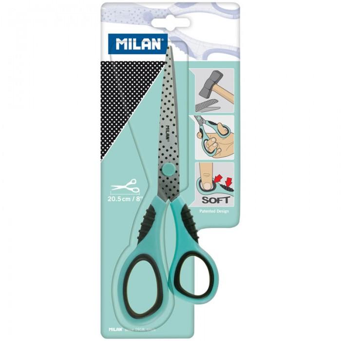 Канцелярия Milan Ножницы Soft 20.5 см ножницы бордюрные 510мм