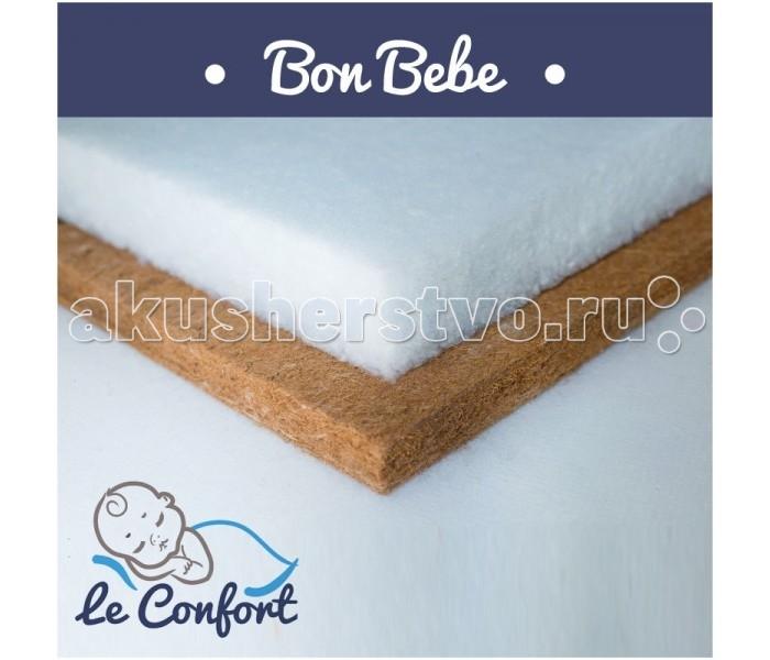 """Матрас Le Confort Bon Bebe 120х60х14Bon Bebe 120х60х14Детский матрас Le Confort Bon Bebe многофункциональный ортопедический, в состав которого входит:  Bi-cocos 4 см – новейший материал, сочетающий в себе свойства искусственных и натуральных материалов. Поддерживает идеальный влаго - и воздухообмен во внутренних слоях матраса. Не вызывает аллергических реакций, не имеет запаха.  Холлкон 10 см – это материал, полученный из синтетического полиэфирного волокна. Экологически чистый, нетоксичный, гипоаллергенный.Имеет высокую износоустойчивость.  Съемный чехол - ткань Трикотаж  Гигиеничный Воздухопроницаемый Непривлекателен для """"пылевого клеща""""  Размер: 120 x 60 x 14 см<br>"""