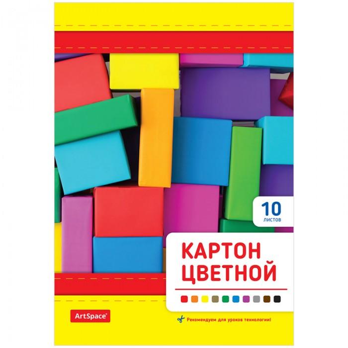 Канцелярия Спейс Картон цветной А5 на клею 10 листов 10 цветов картон цветной 10 листов 10 цветов щенячий патруль