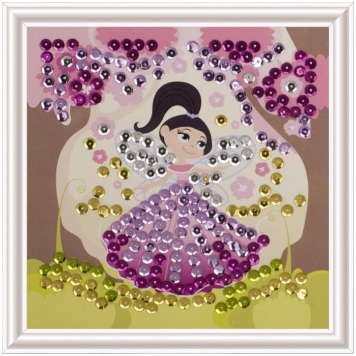 Картины своими руками Lori Аппликация-картина из пайеток Маленькая фея картины своими руками lori аппликация картина из пайеток такса чарли