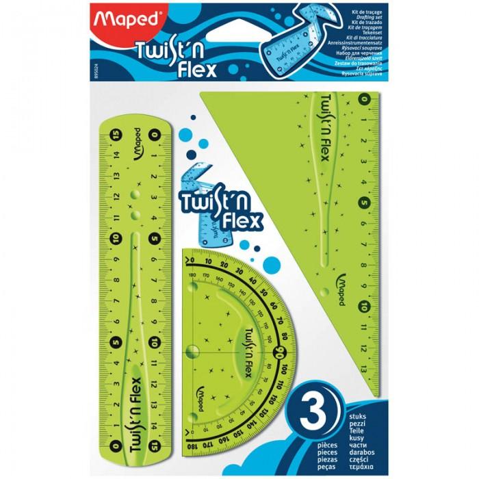Канцелярия Maped Набор чертежный Twistn Flex 3 предмета набор эм 3 предмета 11 йогурт 987943