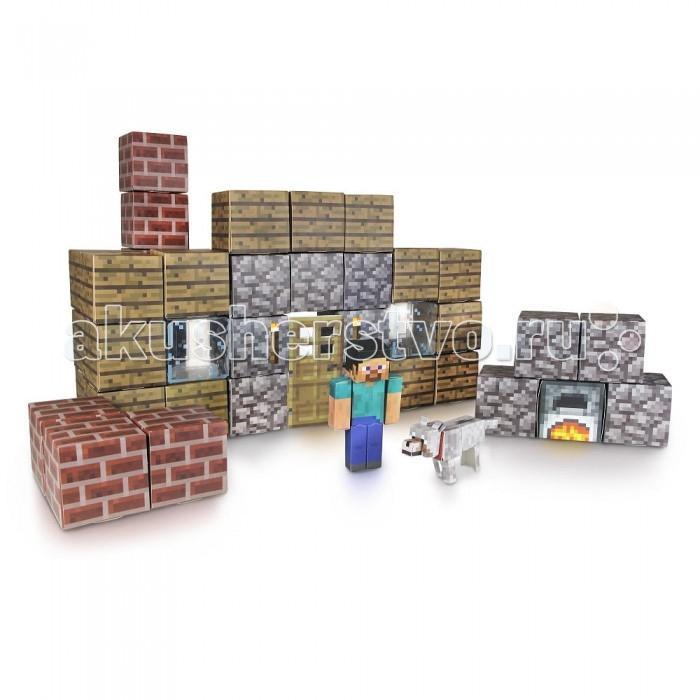 Конструктор Minecraft из бумаги Убежище 48 деталейиз бумаги Убежище 48 деталейКонструктор Minecraft из бумаги Убежище 48 деталей с помощью которого Вы можете собрать главного героя игры - Стива, его собачку, а также кучу пиксельных блоков, из которых Вы можете построить настоящее убежище!   Особенности: Данный конструктор Майнкрафт Паперкрафт превосходно подходит в качестве стартового набора.  Детали игры выдавливаются из специального листа и собираются, что позволяет развивать логику и мелкую моторику пальцев.  Собери все наборы и построй собственную вселенную Майнкрафт у себя дома!  Комплект: 44 листа конструктора, 1 бумажная лента, 6 блоков с наклейками.<br>