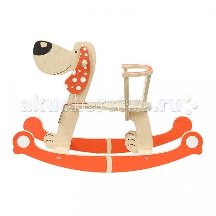 Качалка Woody СобакаСобакаКачалка Woody Собака - новое решение в отношении дизайна классической детской игрушки, любимой каждому ребенку.   Особенности: Добрая и улыбчивая собачка, с надежной спинкой, которая не позволит ребенку упасть назад даже при сильном раскачивании, станет хорошим дополнением к коллекции детских игрушек.  Натуральный и прочный материал гарантирует качество игрушки,и срок ее действия не будет маленьким.   Длина: 76 см. Высота: 56.5 см. Высота сиденья от пола: 26 см. Длина сиденья: 25 см. Ширина сиденья: 14.5 см.<br>