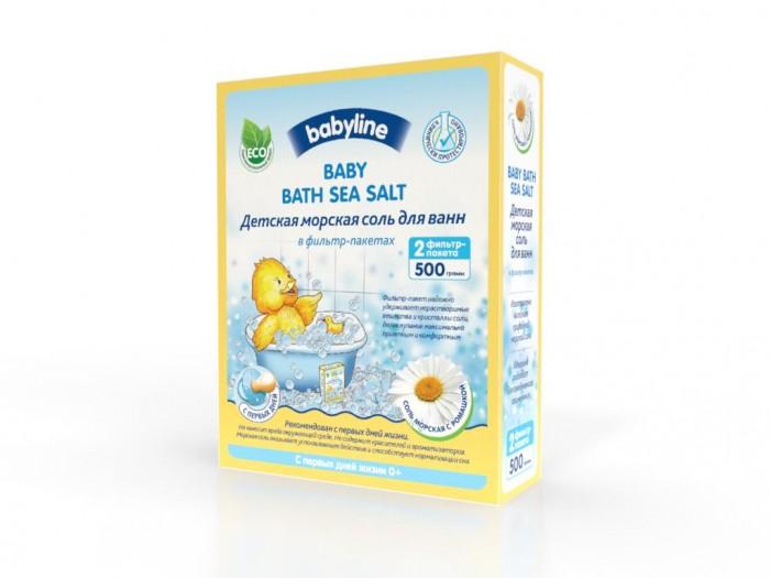 Соли и травы для купания Babyline Детская морская соль для ванн с ромашкой 500 г соль для ванн малавит флора берёза 500 г