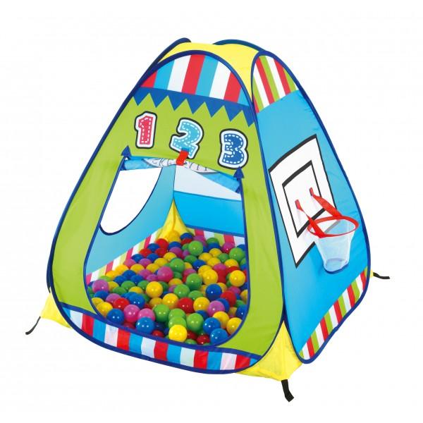 Calida Дом-палатка + 100 шаров Баскетбол
