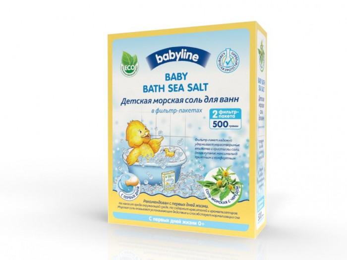 Соли и травы для купания Babyline Детская морская соль для ванн с чередой 500 г соль для ванн малавит флора берёза 500 г
