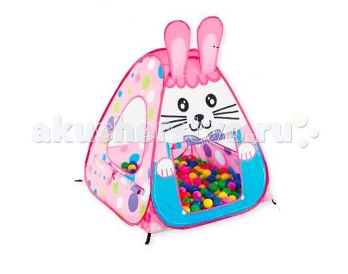 Calida Дом-палатка + 100 шаров КроликДом-палатка + 100 шаров КроликДом-палатка Calida Кролик прекрасно подходит как для домашних игр так и для отдыхе на свежем воздухе. Игры в наполненной разноцветными мягкими шарами палатке подарит вашему непоседе и его друзьям море радости и приятных впечатлений.  Размер: 95х95х90 см<br>