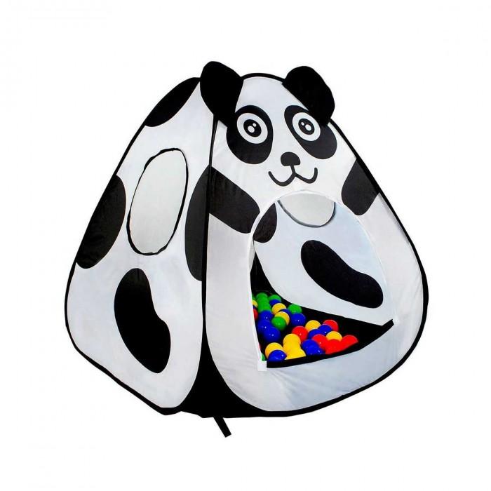Calida Дом-палатка+100 шаров ПандаДом-палатка+100 шаров ПандаДом-палатка Calida Панда это прекрасная удобная самораскладывающаяся палатка для вашего малыша , которая замечательно подходит как для самостоятельных так и для совместных игр. В комплект входит набор из 100 разноцветных шаров который наполнит дом-палатку радостью и весельем.  В комплект входит: Палатка 95х95х90см нейлон 100 шаров (7см в диаметре) пластмасса<br>