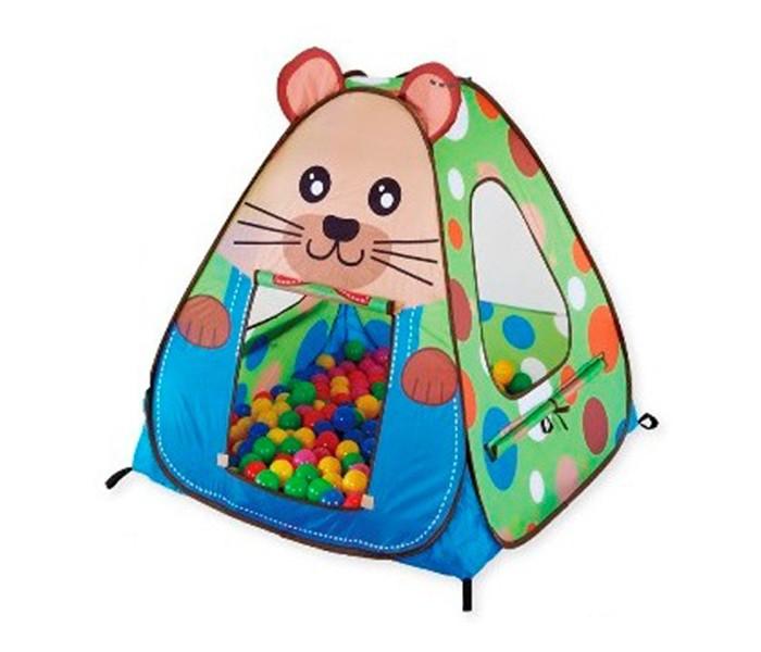 Calida Дом-палатка + 100 шаров СурокДом-палатка + 100 шаров СурокДом-палатка Calida Сурок замечательная самораскладывающаяся палатка это собственный укромный уголок для вашего ребенка , где он может отдыхать и развлекаться дома или на природе . В комплект входит набор из 100 разноцветных шаров который не оставит равнодушным ни одного непоседу.  В комплект входит: Палатка 95х95х90см нейлон 100 шаров ( 7см в диаметре) пластмасса<br>