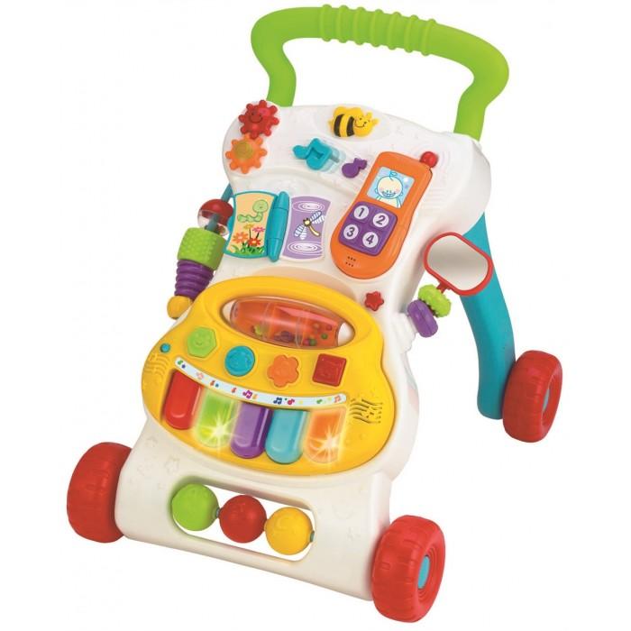 Ходунки Winfun Центр игровойЦентр игровойЦентр игровой  Игрвой центр Winfun представляет собой многофункциональную игрушку. Он станет отличным помощником в качестве опоры для деток, которые учатся ходить.   На панели центра находится множество ярких кнопочек, нажав на которые, можно услышать голоса животных, мелодии и различные звуки.<br>