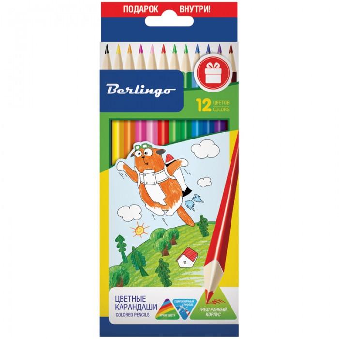 Карандаши, восковые мелки, пастель Berlingo Карандаши Жил-был кот 12 цветов карандаши восковые мелки пастель berlingo карандаши замки 18 цветов